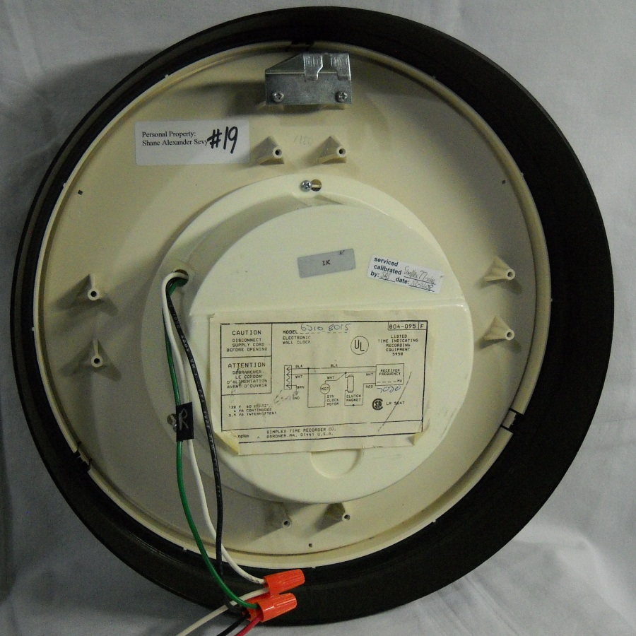 simplex double sided clock removal electricity resolved ask rh ask metafilter com 4 Wire Smoke Detector Wiring Diagram Simplex Duct Detector Wiring Diagram